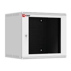 Шкаф телекоммуникационный настенный 9U (600х450) дверь стекло