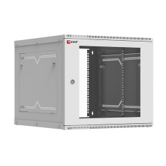 Шкаф телекоммуникационный настенный разборный 9U (600х650) дверь стекло