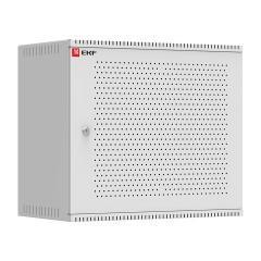 Шкаф телекоммуникационный настенный 9U (600х350) дверь перфорированная