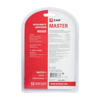 Мультиметр цифровой M830B EKF Master; In-180701-bm830B