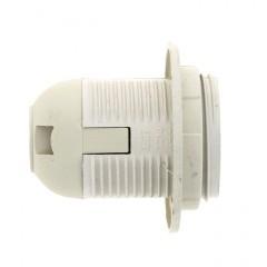 Патрон Е27 пластиковый с кольцом термостойкий пластик бел. EKF PROxima