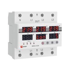 Трехфазное реле напряжения и тока с дисп. MRVA-3 63A EKF