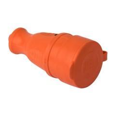 Роз. перенос. с защитной крышкой оранжевая каучуковая 230В 2P+PE 16A IP44 EKF PRO
