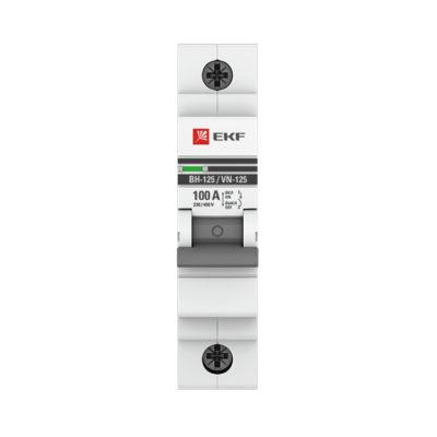 Выключатель нагрузки 1P 100А ВН-125 EKF PROxima; SL125-1-100-pro