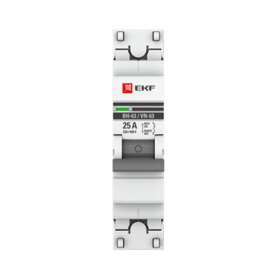 Выключатель нагрузки 1P  25А ВН-63 EKF PROxima; SL63-1-25-pro