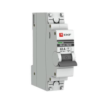 Выключатель нагрузки 1P  63А ВН-63 EKF PROxima; SL63-1-63-pro