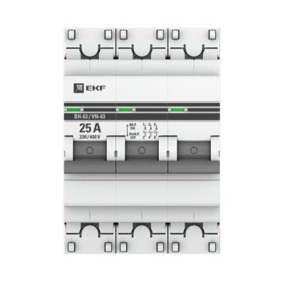 Выключатель нагрузки 3P  25А ВН-63 EKF PROxima; SL63-3-25-pro