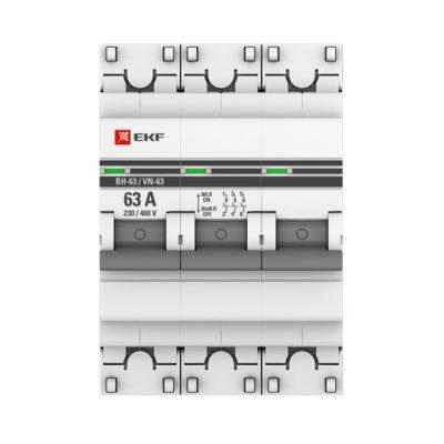 Выключатель нагрузки 3P  63А ВН-63 EKF PROxima; SL63-3-63-pro