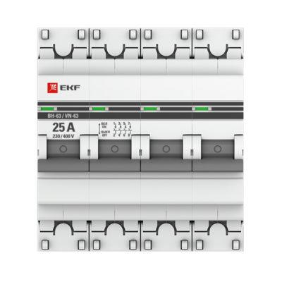 Выключатель нагрузки 4P  25А ВН-63 EKF PROxima; SL63-4-25-pro