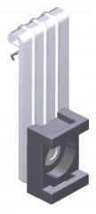 Вертикальный балочный зажим 1-5мм под нейлоновую стяжку EKF
