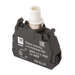 Лампа сменная c основанием XB4 белая  400В EKF PROxima
