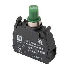 Лампа сменная c основанием XB4 зеленая 230В EKF PROxima