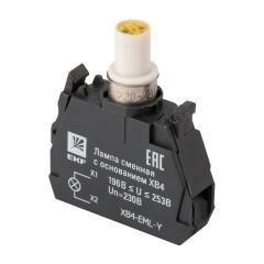 Лампа сменная c основанием XB4 желтая 230В EKF PROxima
