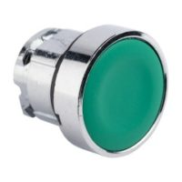 Исполнительный механизм кнопки XB4 зеленый плоский  возвратный без фиксации