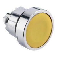 Исполнительный механизм кнопки XB4 желтый плоский  возвратный без фиксации