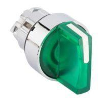 Исполнительный механизм переключателя ХB4 зеленый на 2 положения возвратный без фиксации