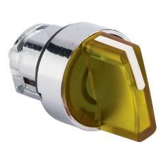 Исполнительный механизм переключателя ХB4 желтый на 3 положения возвратный без фиксации
