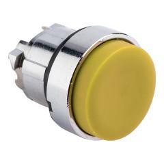 Исполнительный механизм кнопки XB4 желтый выпирающая  возвратный без фиксации