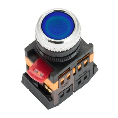 Кнопка ABLFS-22 с подсветкой синий NO+NC 230В EKF PROxima
