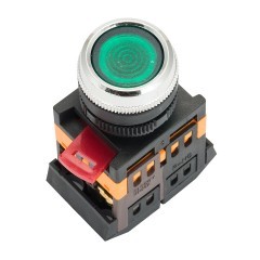 Кнопка ABLFS-22 с подсветкой зеленый NO+NC 230В EKF PROxima