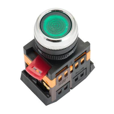 Кнопка ABLFS-22 с подсветкой зеленый NO+NC 230В EKF PROxima; ablfs-22-g
