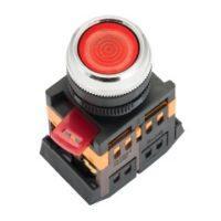 Кнопка ABLFS-22 с подсветкой красный NO+NC 230В EKF PROxima