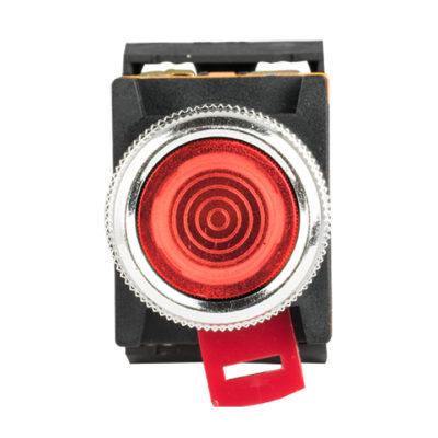 Кнопка ABLFS-22 с подсветкой красный NO+NC 230В EKF PROxima; ablfs-22-r