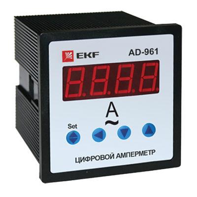 Амперметр AD-961 цифровой на панель (96х96) однофазный EKF  PROxima ; ad-961