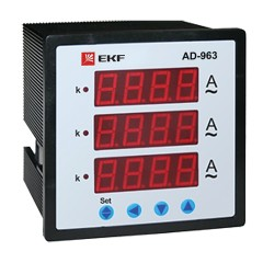 Амперметр AD-963 цифровой на панель (96х96) трехфазный EKF  PROxima