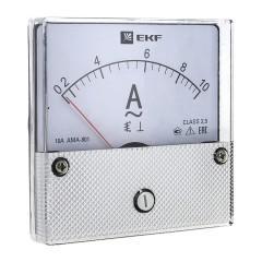 Амперметр AMA-801 аналоговый на панель (80х80) круглый вырез 400А трансф. подкл. EKF