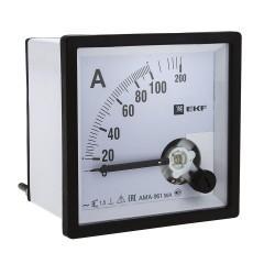 Амперметр AMA-961 аналоговый на панель (96х96) квадратный вырез 150А трансф. подкл. EKF