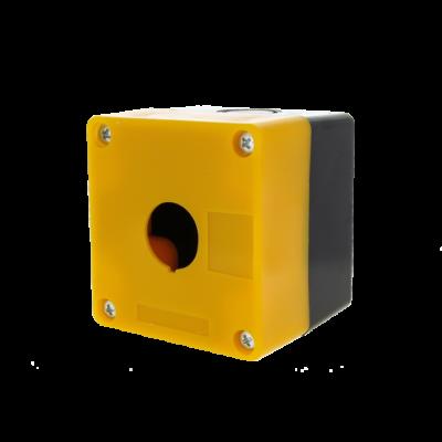 Корпус КП101 пластиковый 1 кнопка желтый EKF PROxima; cpb-101-o