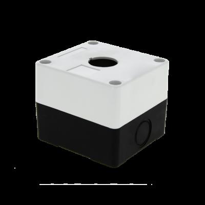 Корпус КП101 пластиковый 1 кнопка белый EKF PROxima; cpb-101-w