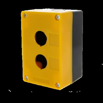 Корпус КП102 пластиковый 2 кнопки желтый EKF PROxima; cpb-102-o