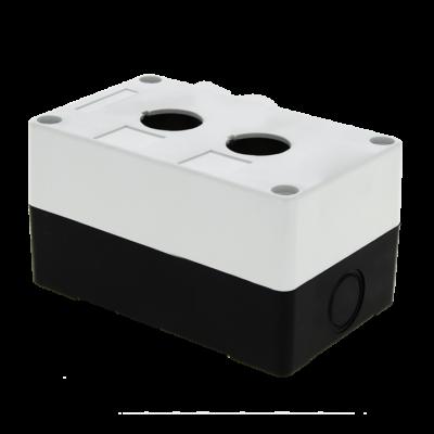 Корпус КП102 пластиковый 2 кнопки белый EKF PROxima; cpb-102-w