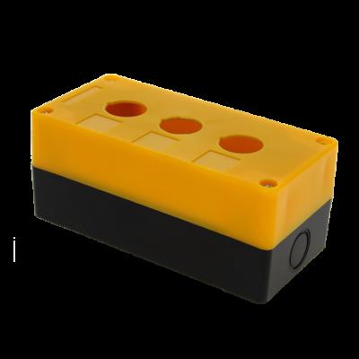 Корпус КП103 пластиковый 3 кнопки желтый EKF PROxima; cpb-103-o