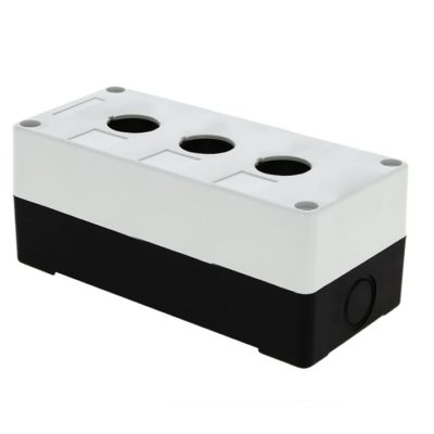 Корпус КП103 пластиковый 3 кнопки белый EKF PROxima; cpb-103-w