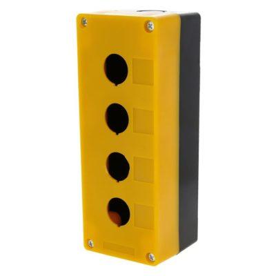 Корпус КП104 пластиковый 4 кнопки желтый EKF PROxima; cpb-104-o