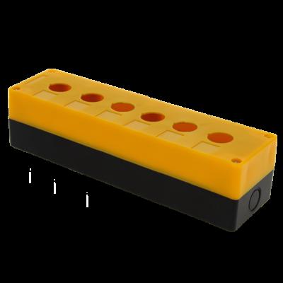 Корпус КП106 пластиковый 6 кнопок желтый EKF PROxima; cpb-106-o