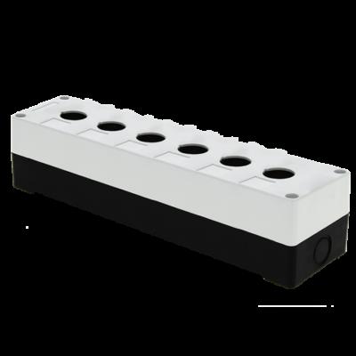 Корпус КП106 пластиковый 6 кнопок белый EKF PROxima; cpb-106-w