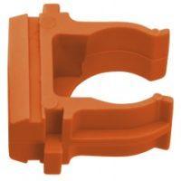 Крепеж-клипса оранжевая d25мм  (10шт.) Plast EKF PROxima