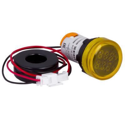 Индикатор значения тока и напряжения желтый ED16-22AVD 100А EKF PROxima; ed16-22avd-y