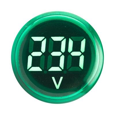 Индикатор значения напряжения зеленый ED16-22VD EKF PROxima; ed16-22vd-g