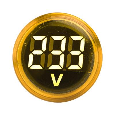 Индикатор значения напряжения желтый ED16-22VD  EKF PROxima; ed16-22vd-y