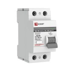 Устройство Защитного Отключения ВД-100 2P 63А/100мА (электр