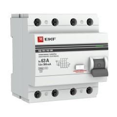 Устройство защитного отключения УЗО ВД-100 селективное 4P 63А/300мА (электронное) EKF PROxima