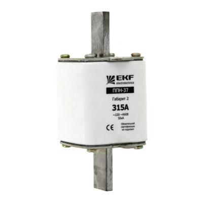 Плавкая вставка ППН-37 400/315А габарит 2 EKF PROxima