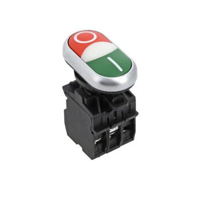 """Кнопка LA32HND красно-зеленая """"Пуск-Стоп"""" с подсветкой 24В DC NO+NC EKF PROxima; la32hnd-24"""