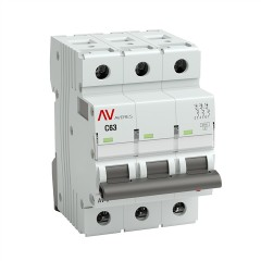Выключатель автоматический AV-10 3P 63A (C) 10kA EKF AVERES