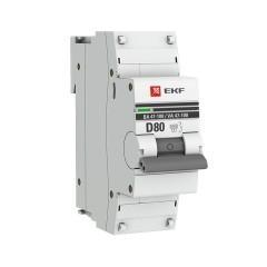 Автоматический выключатель 1P  80А (D) 10kA ВА 47-100 EKF PROxima